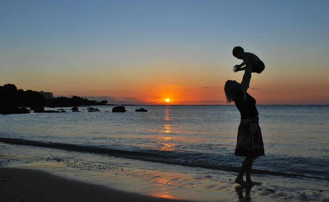 mother-at-sunset